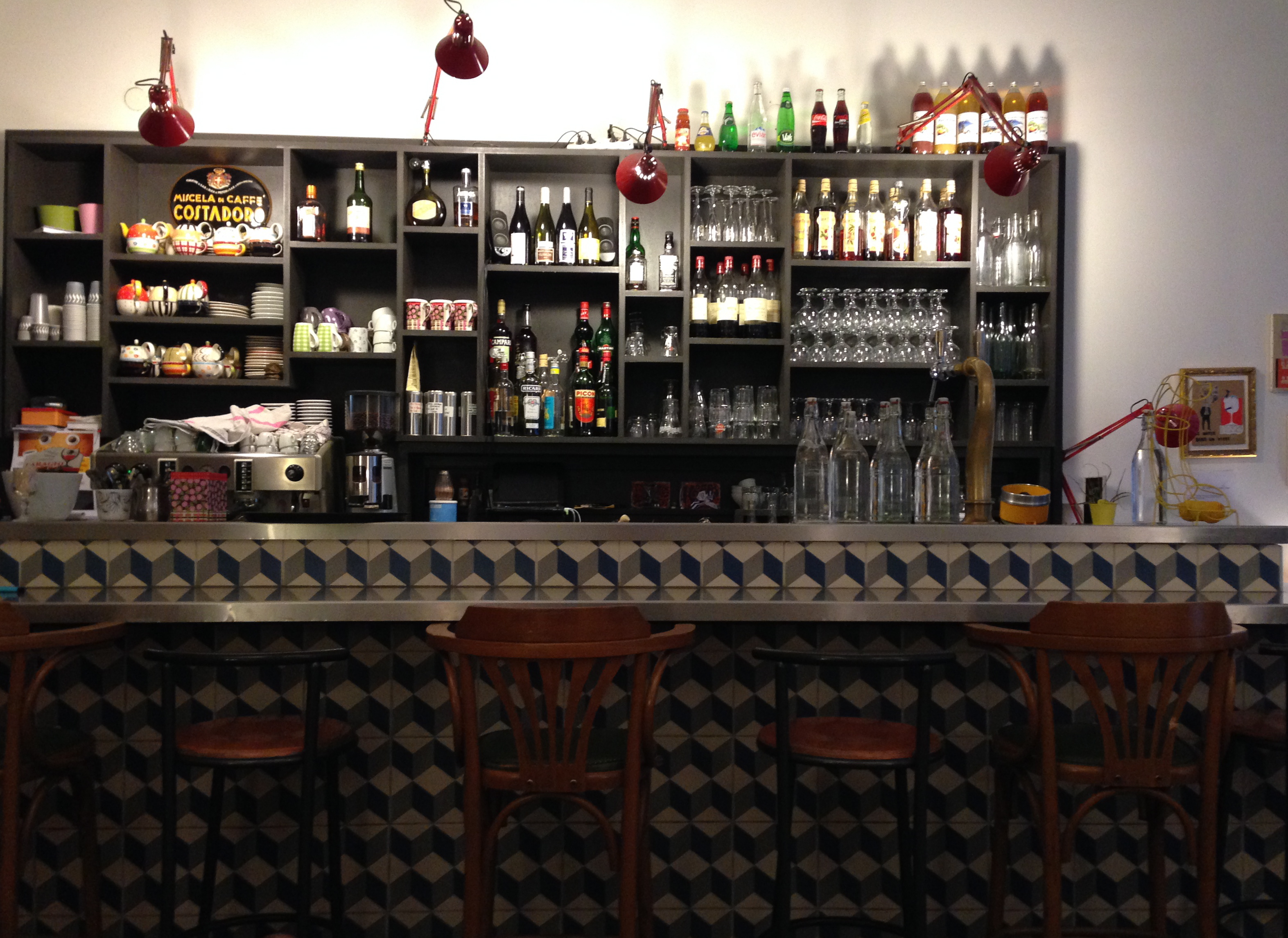 Bar café cousu
