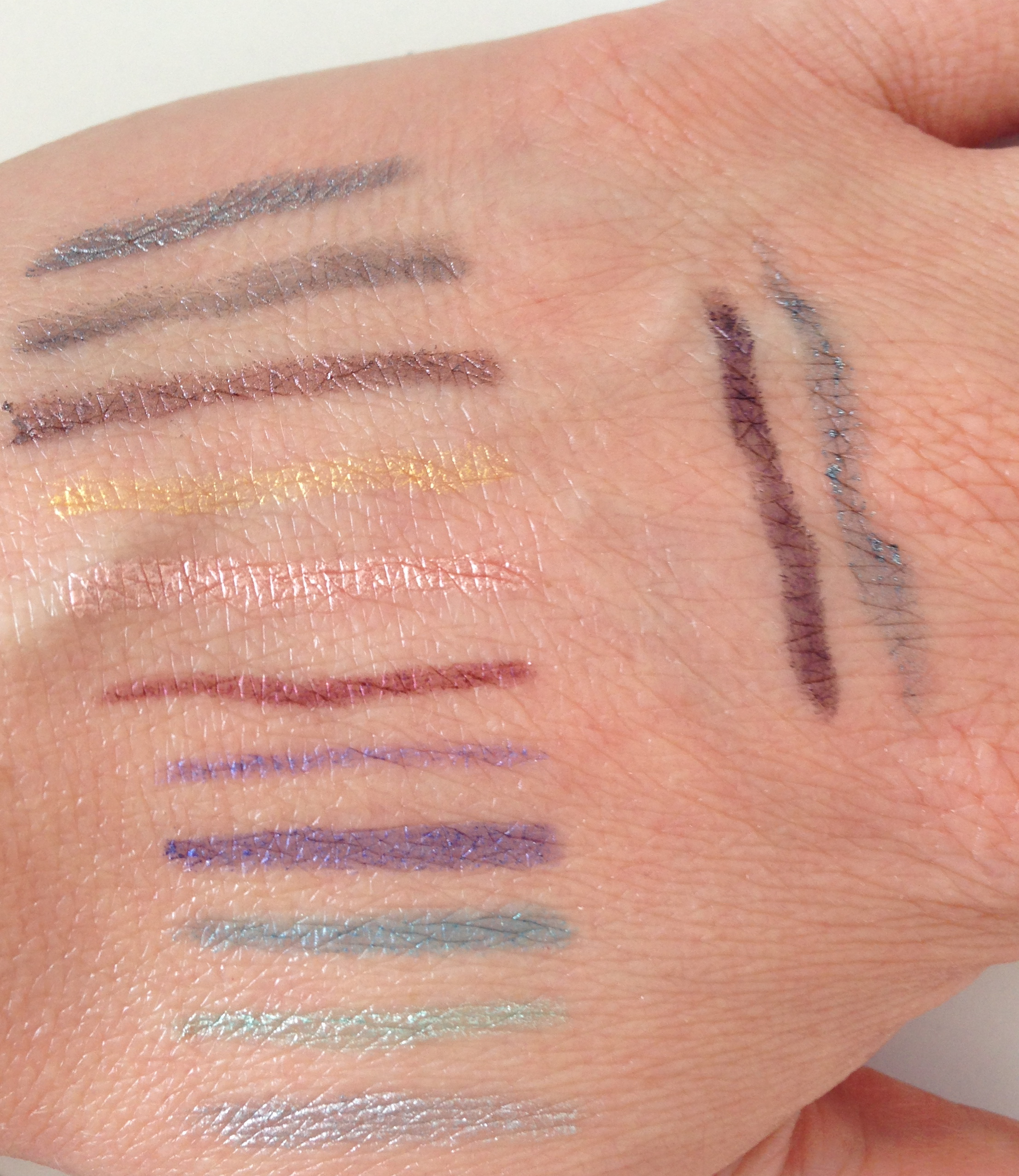 swatch liners metallic