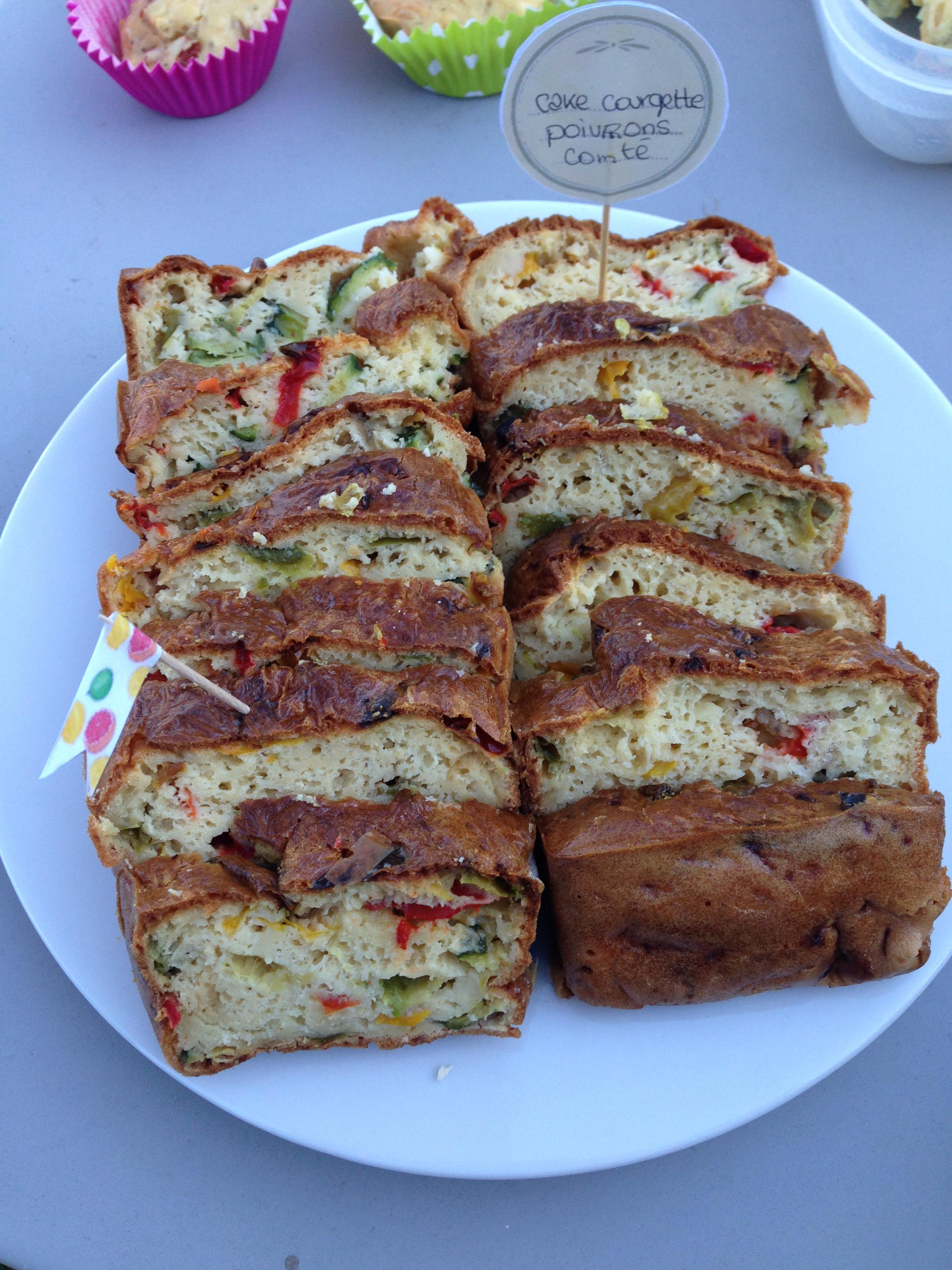 Cake poivron/courgette/comté