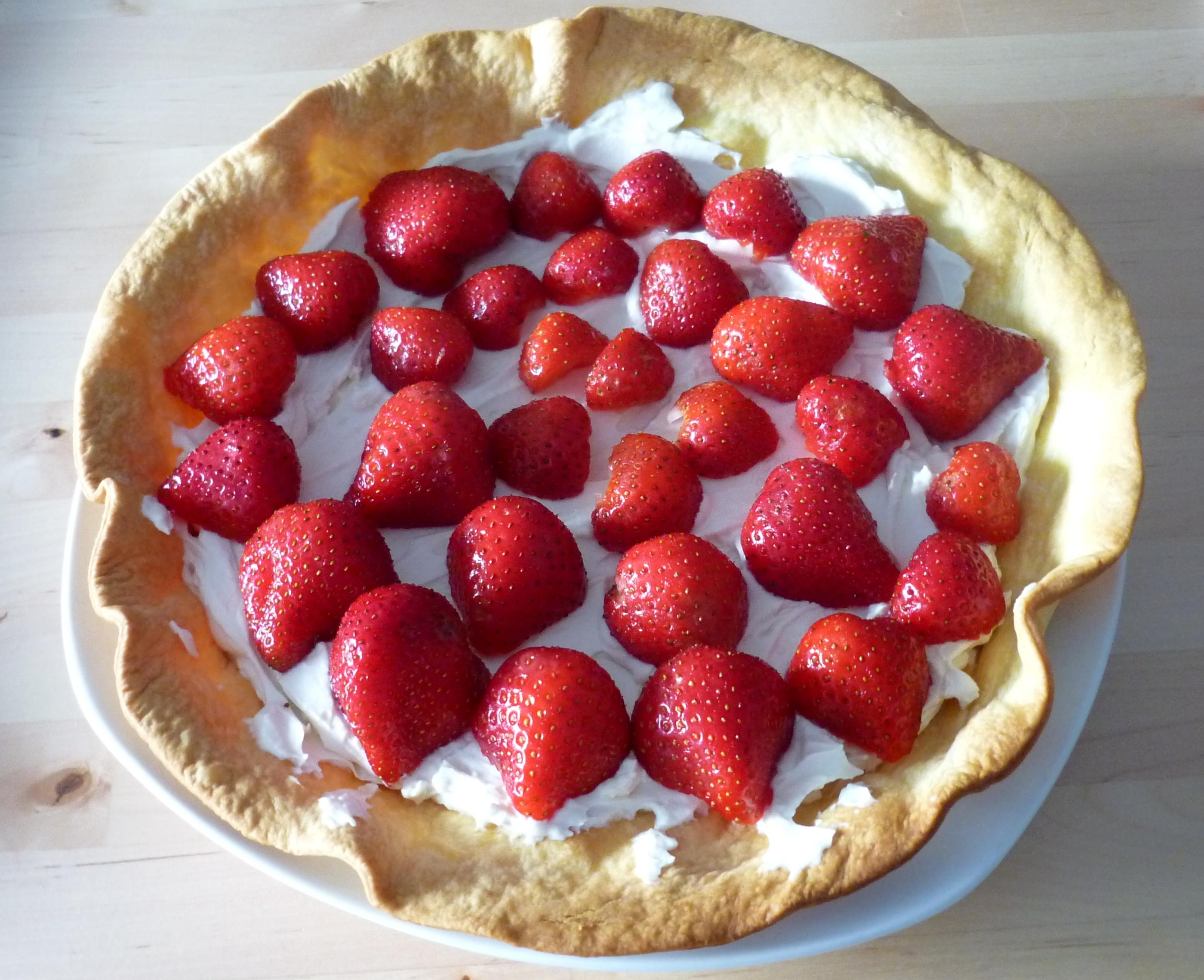 Tarte aux fraises et mascarpone