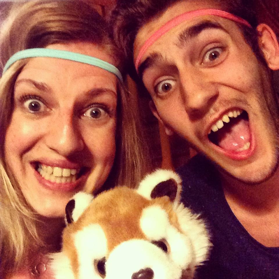 Selfie cousins panda