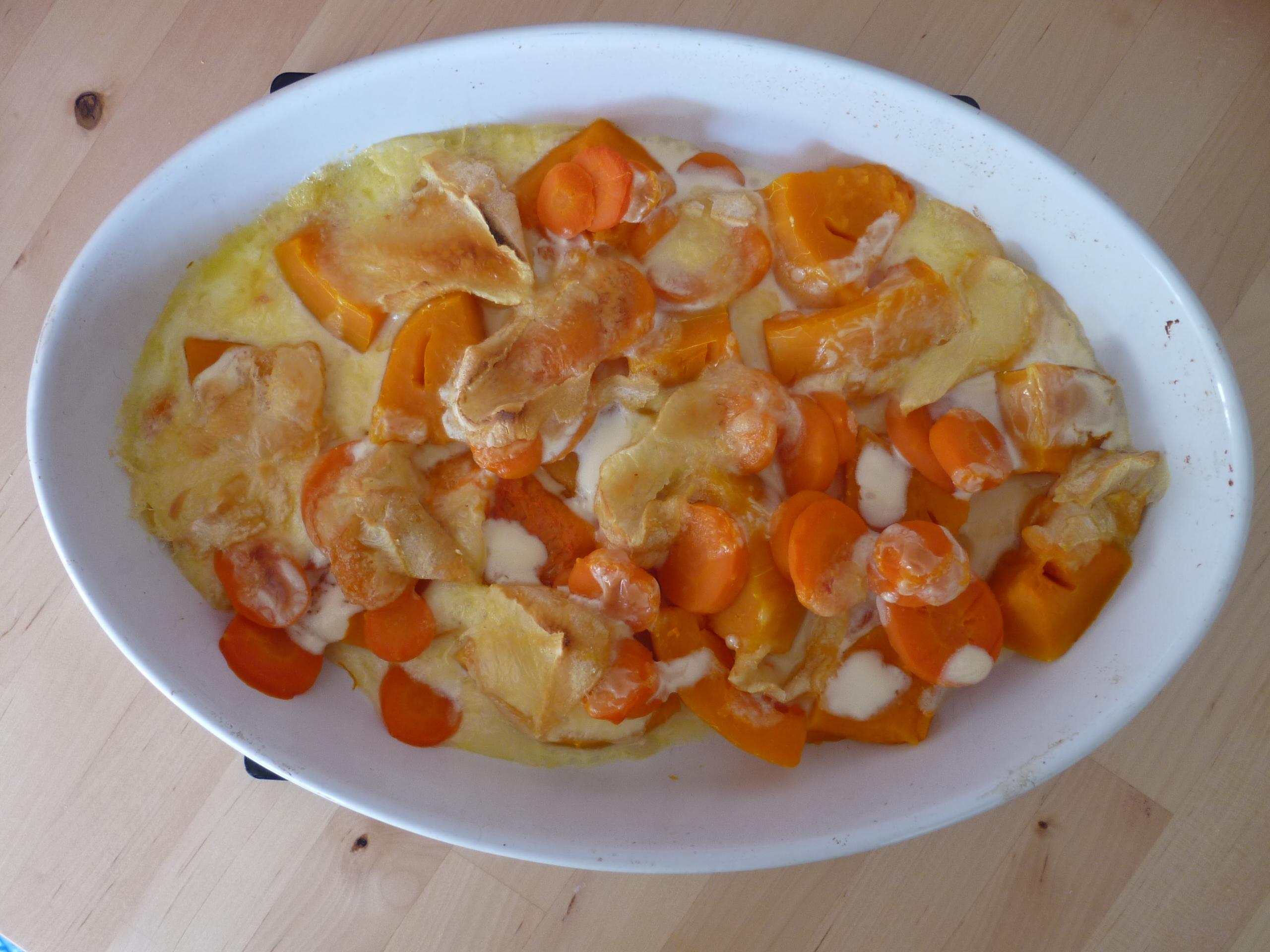 gratin butternut cuit