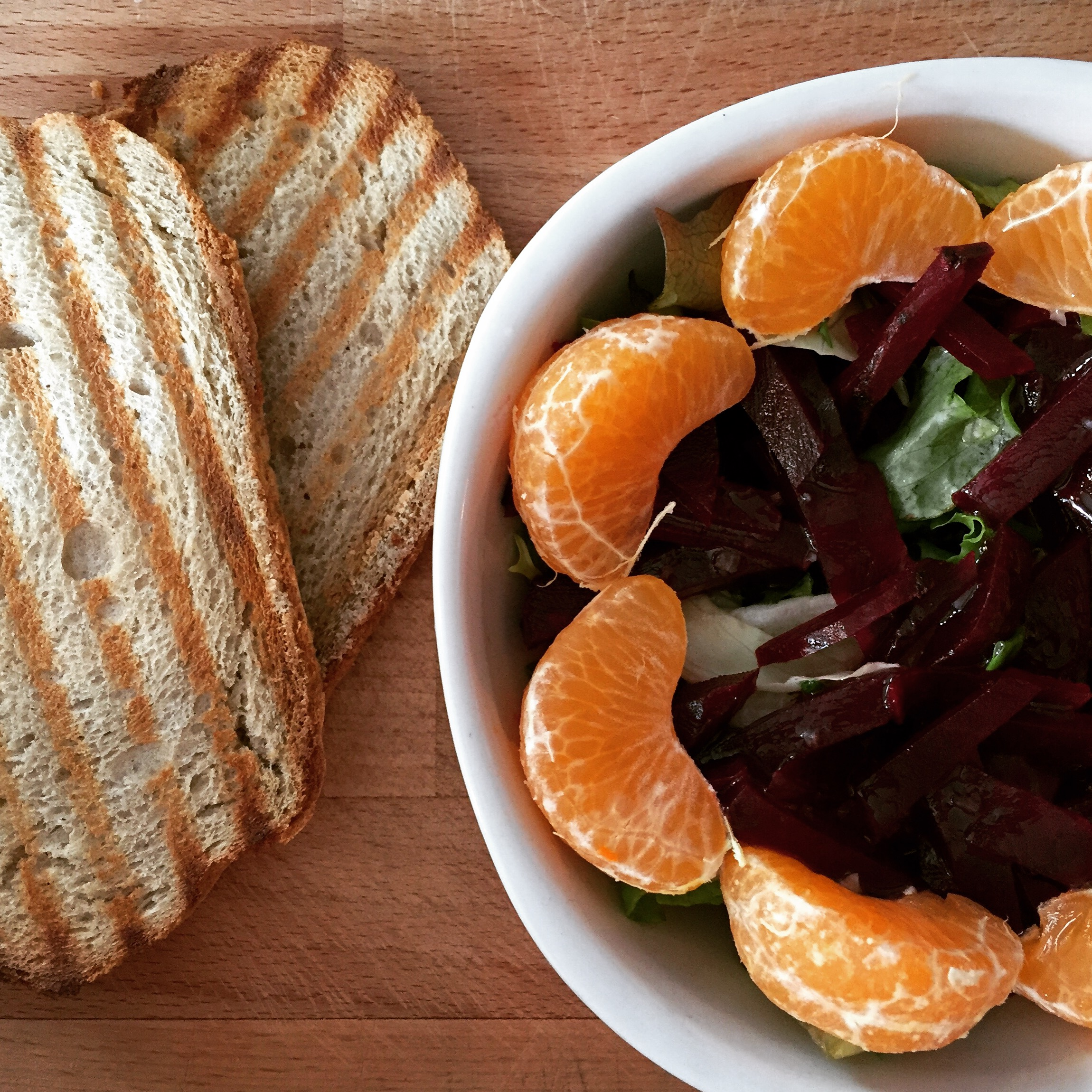 Salade clémentines betterave