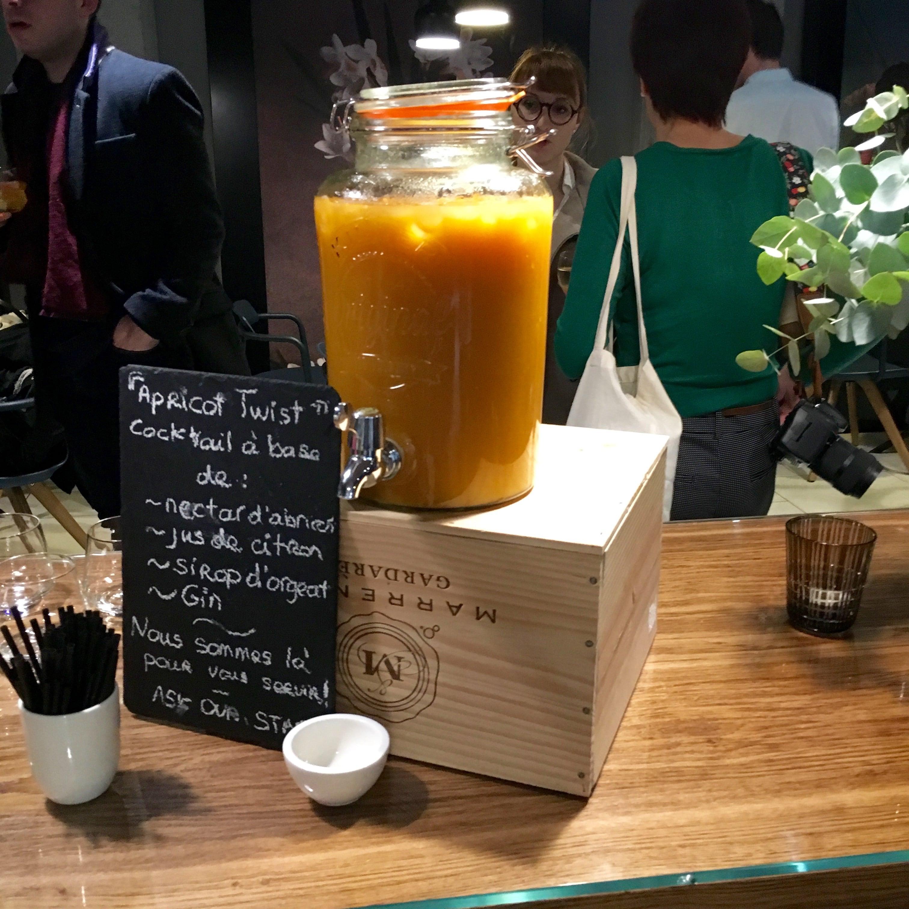 cocktail créé spécialement pour l'Okko hôtel