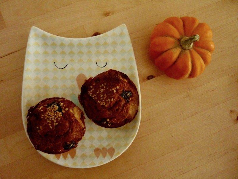 Muffins cranberries et chocolat blanc sans gluten